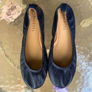 Talbots leather upper ballet flats